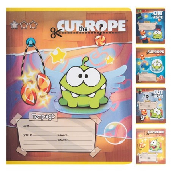 Тетрадь 12 л клетка 12Т5В1 CUT THE ROPE (280)