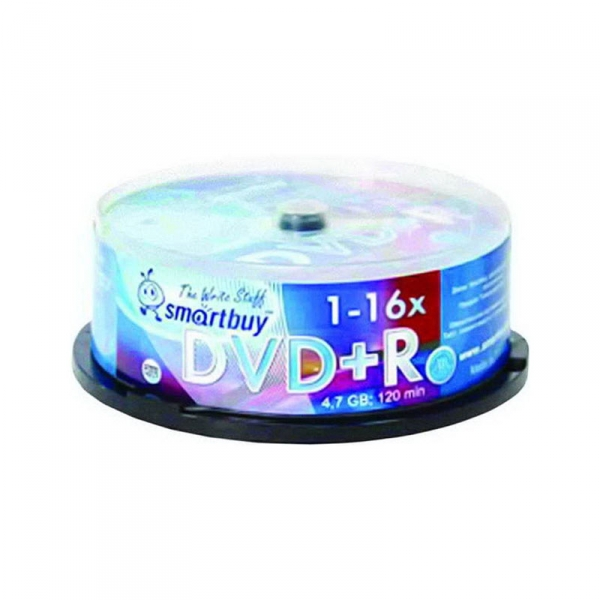 "Диски DVD+R 4,7GB 16x ""SMART BUY"" 25шт."
