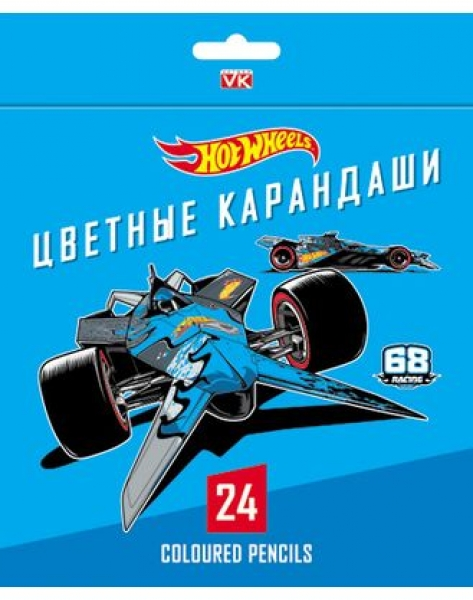 "Карандаши 24 цв.""Хатбер"" ВКс_24044 HOT WHEELS (6)"
