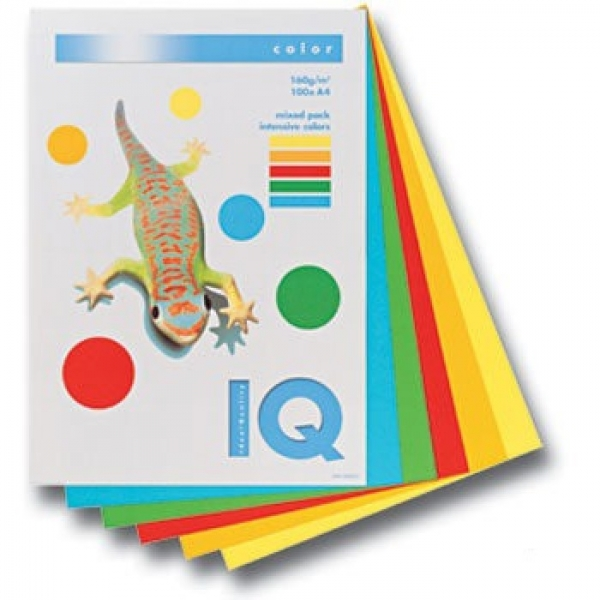 Бумага 250л А4  IQ COLOR MIX 5цв.*50л. Intensive 138152 RB02