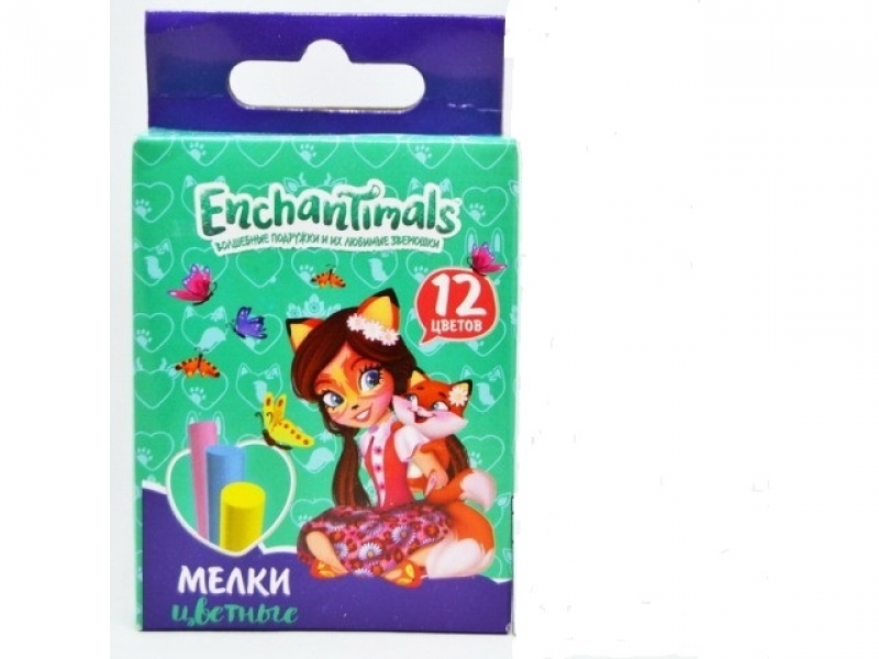 "Мелки 12 цв. ""Mattel Enchantimals"" арт.455720"